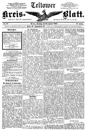 Teltower Kreisblatt vom 24.01.1893