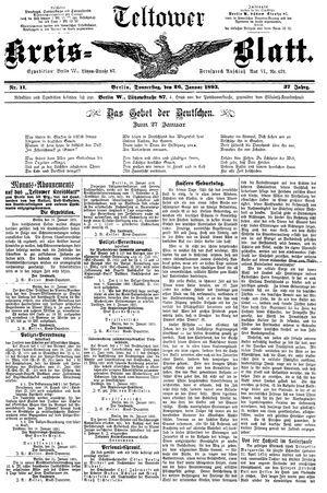 Teltower Kreisblatt vom 26.01.1893