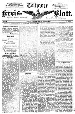 Teltower Kreisblatt vom 28.01.1893