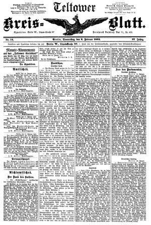 Teltower Kreisblatt vom 02.02.1893