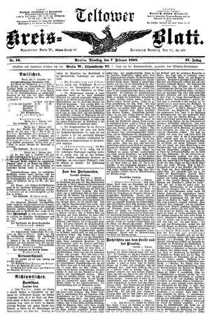 Teltower Kreisblatt vom 07.02.1893