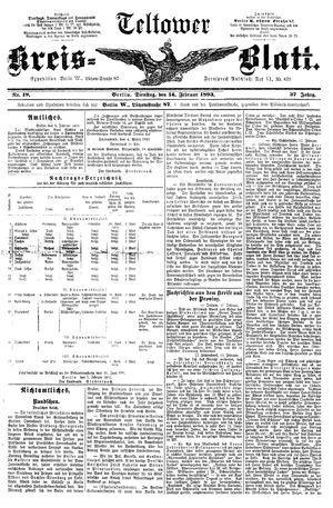 Teltower Kreisblatt vom 14.02.1893