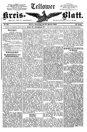 Teltower Kreisblatt vom 16.02.1893