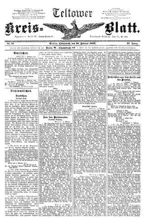 Teltower Kreisblatt vom 18.02.1893
