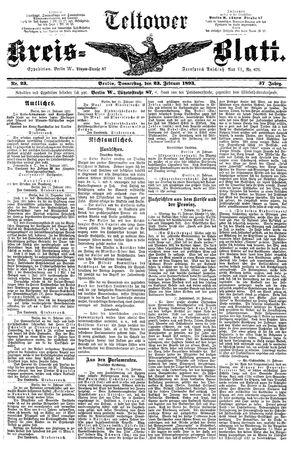 Teltower Kreisblatt vom 23.02.1893