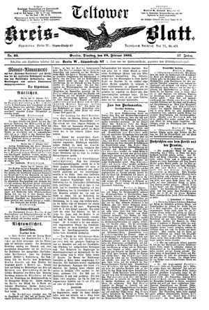 Teltower Kreisblatt vom 28.02.1893