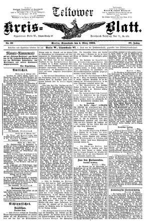 Teltower Kreisblatt vom 04.03.1893