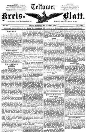 Teltower Kreisblatt vom 11.03.1893
