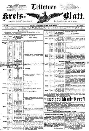 Teltower Kreisblatt vom 16.03.1893