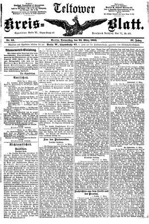 Teltower Kreisblatt vom 23.03.1893