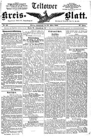 Teltower Kreisblatt vom 25.03.1893