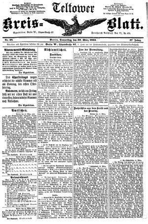 Teltower Kreisblatt vom 30.03.1893