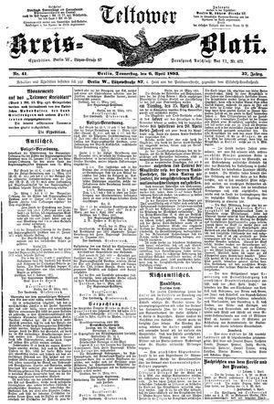 Teltower Kreisblatt vom 06.04.1893