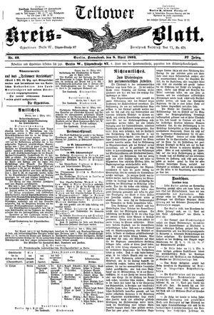 Teltower Kreisblatt vom 08.04.1893