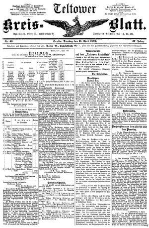 Teltower Kreisblatt vom 11.04.1893
