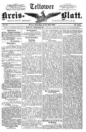 Teltower Kreisblatt vom 13.04.1893