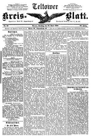 Teltower Kreisblatt vom 18.04.1893