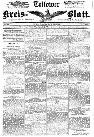 Teltower Kreisblatt vom 04.05.1893