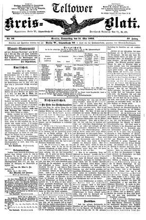 Teltower Kreisblatt vom 11.05.1893