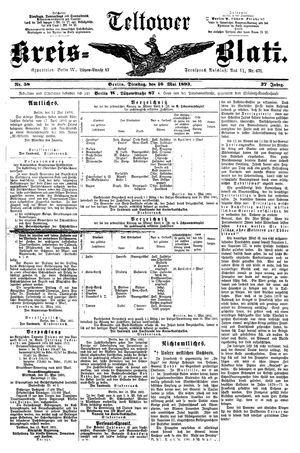 Teltower Kreisblatt on May 16, 1893