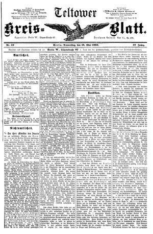 Teltower Kreisblatt vom 18.05.1893