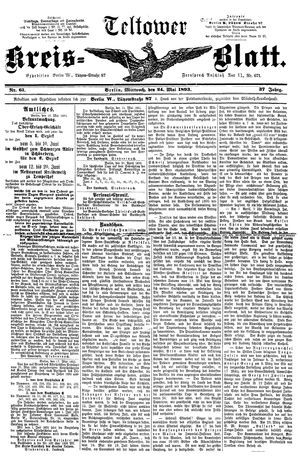 Teltower Kreisblatt vom 24.05.1893