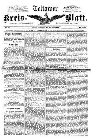 Teltower Kreisblatt vom 27.05.1893