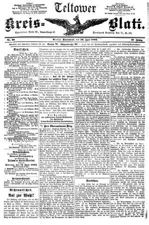 Teltower Kreisblatt vom 10.06.1893