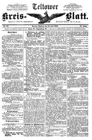 Teltower Kreisblatt vom 13.06.1893