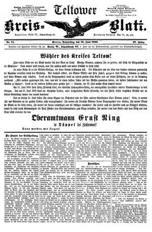 Teltower Kreisblatt vom 15.06.1893