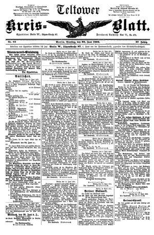 Teltower Kreisblatt vom 20.06.1893