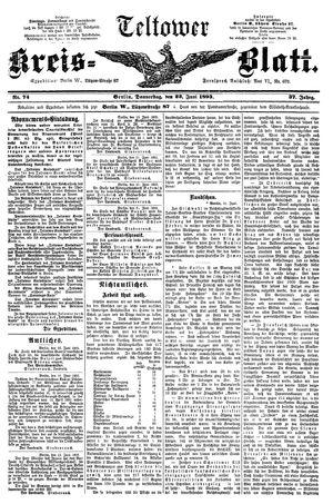 Teltower Kreisblatt on Jun 22, 1893