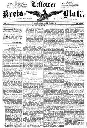 Teltower Kreisblatt vom 27.06.1893
