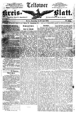 Teltower Kreisblatt vom 29.06.1893