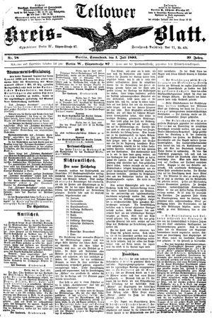 Teltower Kreisblatt vom 01.07.1893