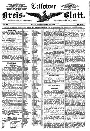Teltower Kreisblatt vom 11.07.1893