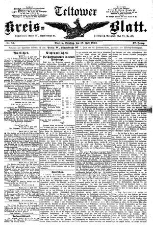 Teltower Kreisblatt vom 18.07.1893