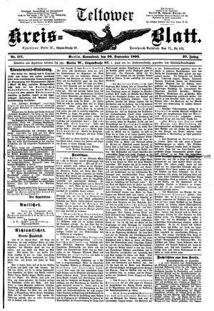 Teltower Kreisblatt vom 30.09.1893