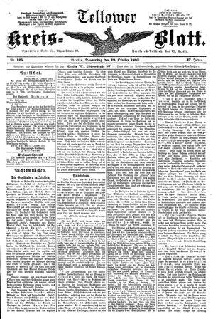 Teltower Kreisblatt vom 19.10.1893