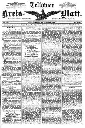 Teltower Kreisblatt vom 21.10.1893