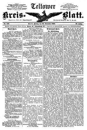 Teltower Kreisblatt vom 24.11.1893