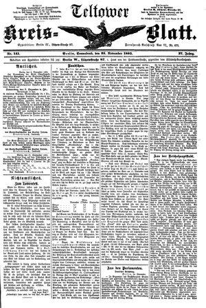 Teltower Kreisblatt on Nov 25, 1893
