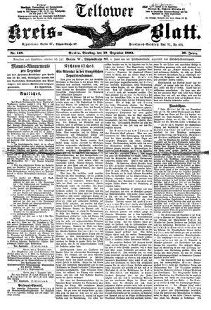 Teltower Kreisblatt vom 12.12.1893
