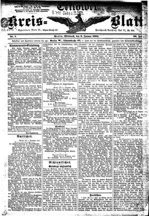 Teltower Kreisblatt vom 03.01.1894