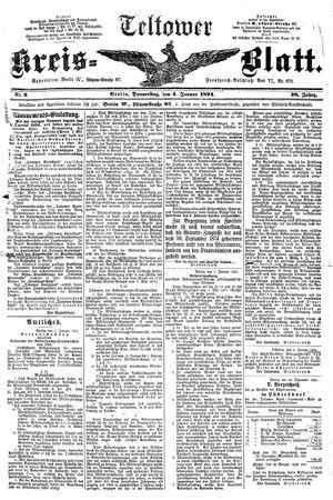 Teltower Kreisblatt vom 04.01.1894