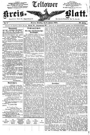 Teltower Kreisblatt vom 09.01.1894