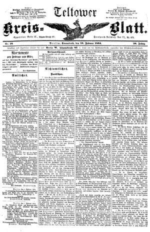 Teltower Kreisblatt vom 10.02.1894