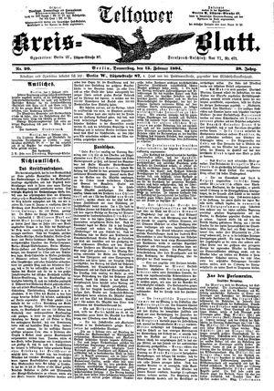 Teltower Kreisblatt vom 15.02.1894