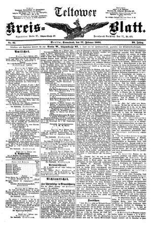 Teltower Kreisblatt vom 17.02.1894