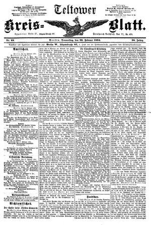 Teltower Kreisblatt vom 22.02.1894